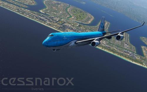KLM (New) - XP11 Default 747 - PH-BFT - Aircraft Skins
