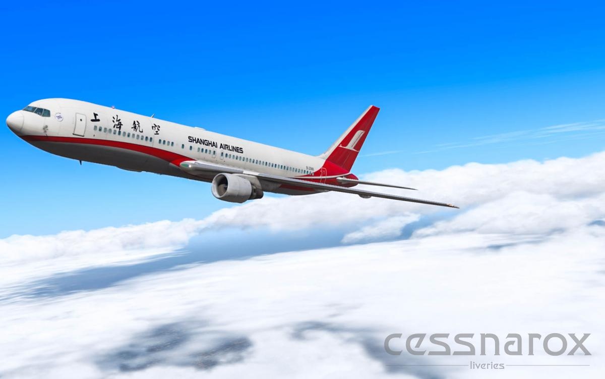 Shanghai Airlines - FF767-300 - B-2566 - Aircraft Skins - Liveries