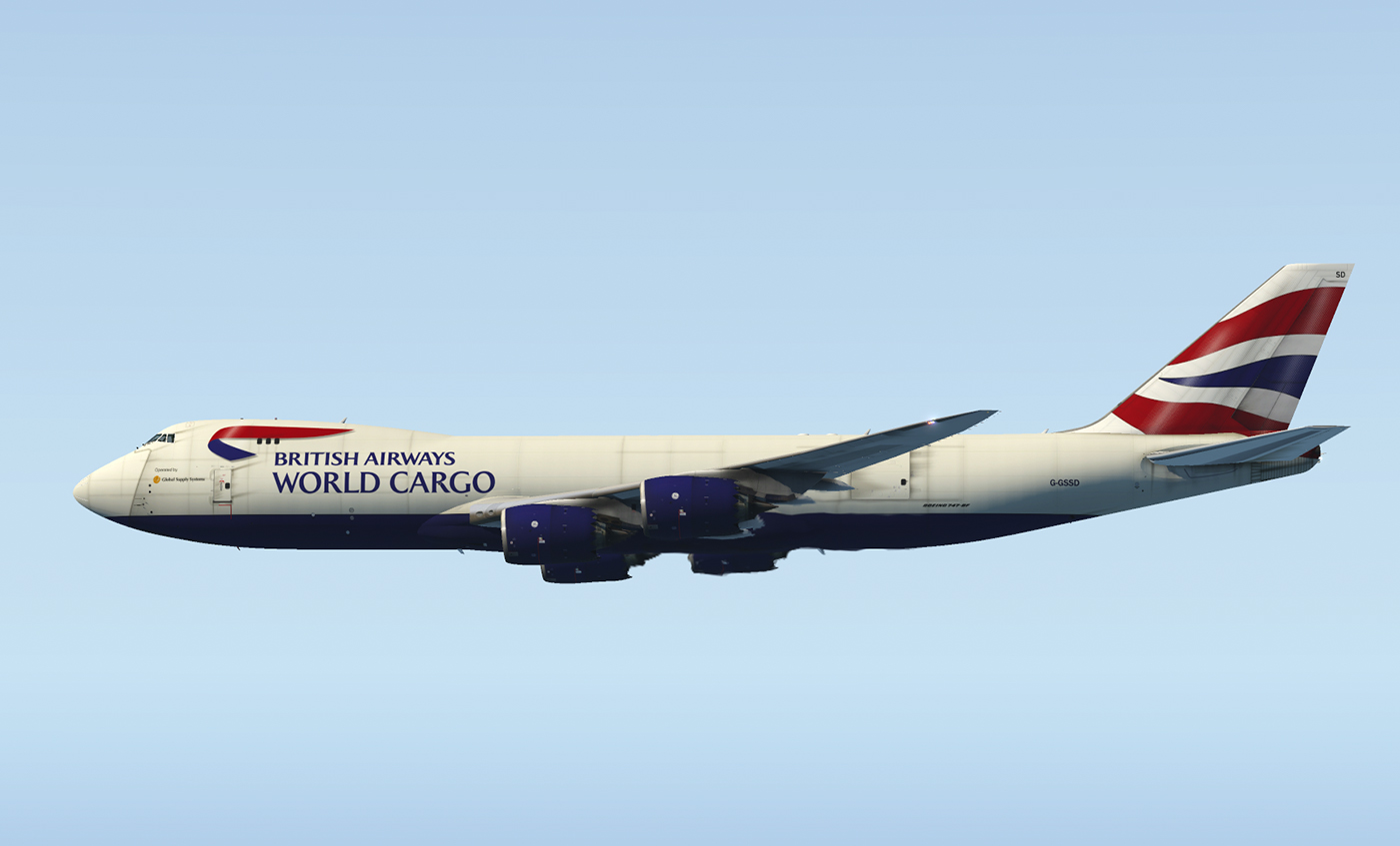 SSG 747-8F - British Airways Cargo (Optimized for the new