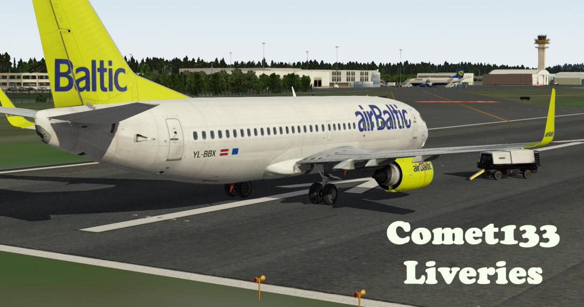 IXEG 733 - AirBaltic (2017 livery) - Aircraft Skins - Liveries - X