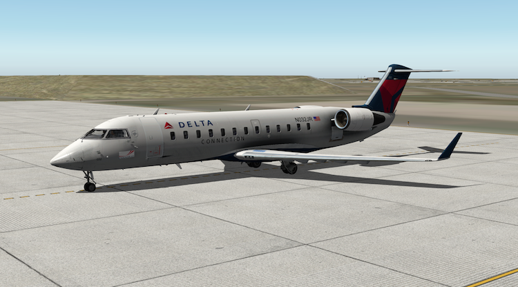 Endeavor Air livery for the Jrollon CRJ-200 - Aircraft Skins