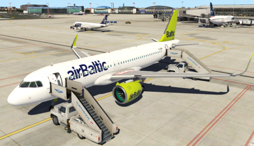 JarDesign Airbus 320neo Livery (Fictional) airBaltic - Aircraft