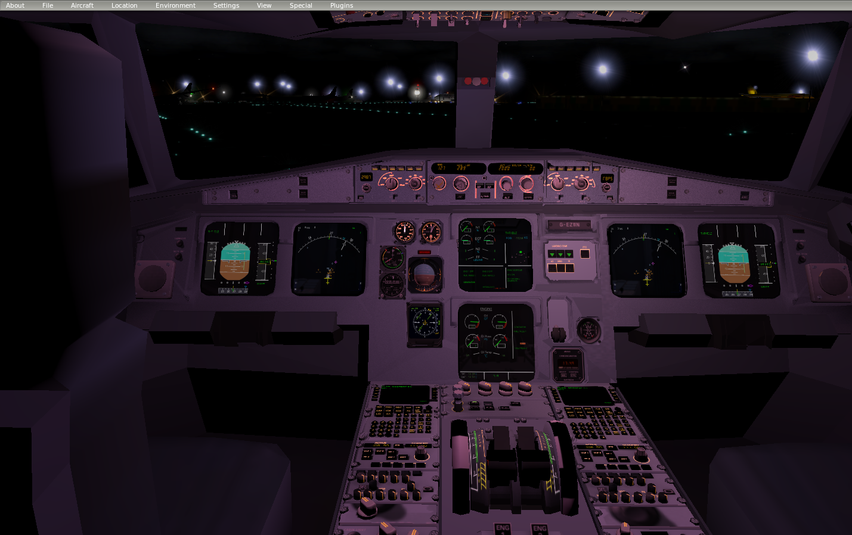 A320 Cockpit Dimensions