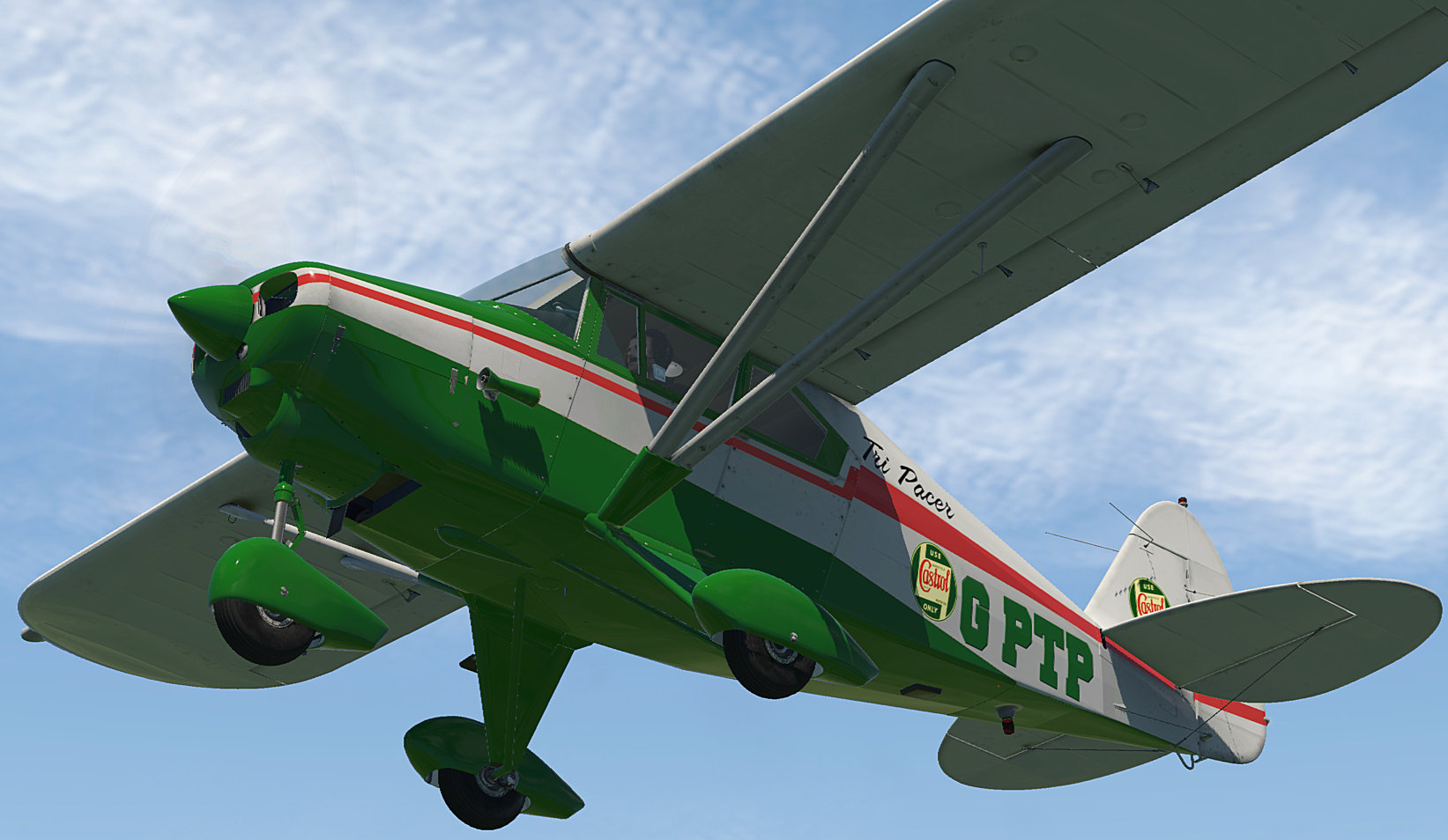 G-PTP Castrol Repaint (Alabeo PA22 Tri Pacer) - Aircraft