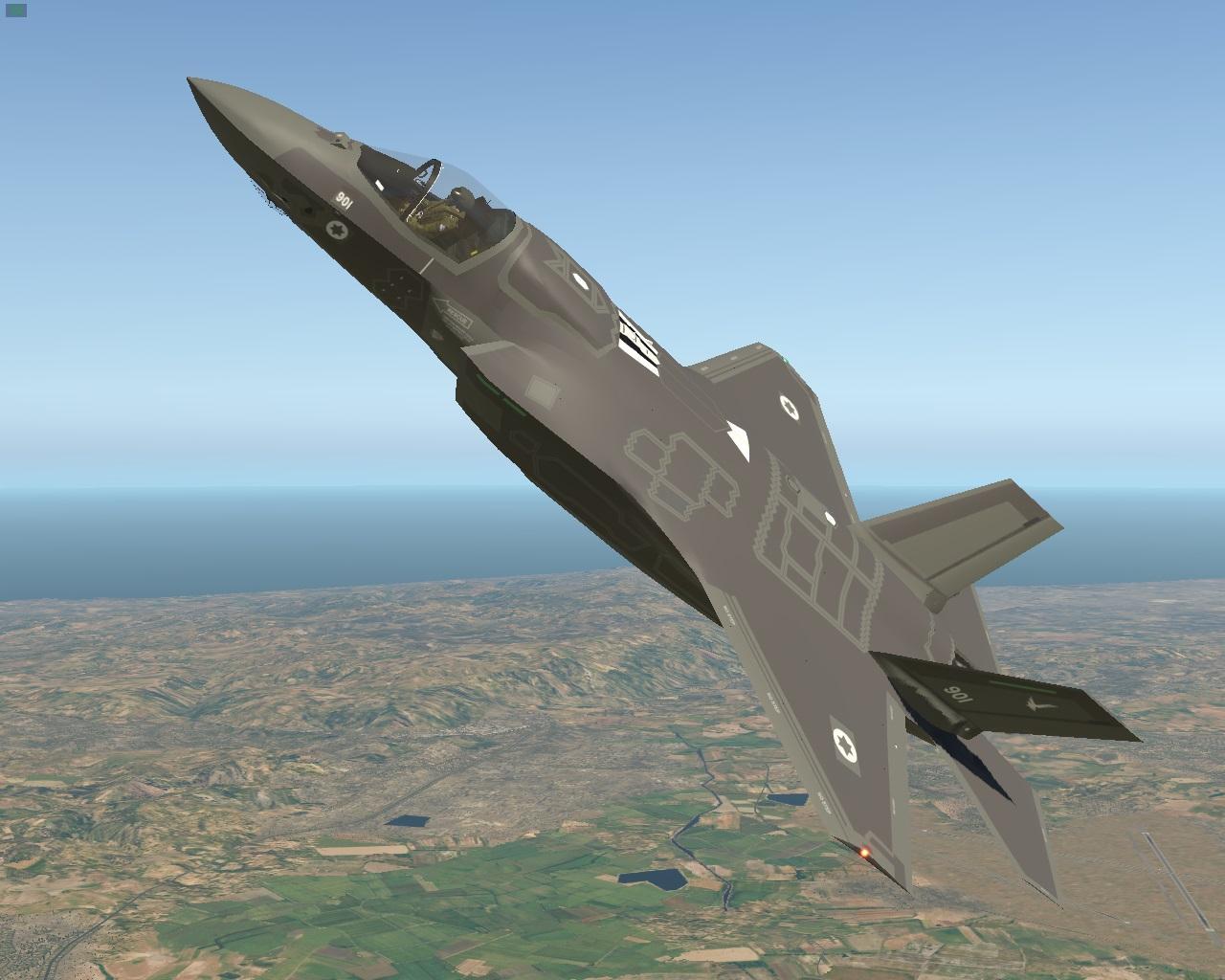 F-35 livery, IDF F-35 'Adir' - F-35 by AOA Simulation - X