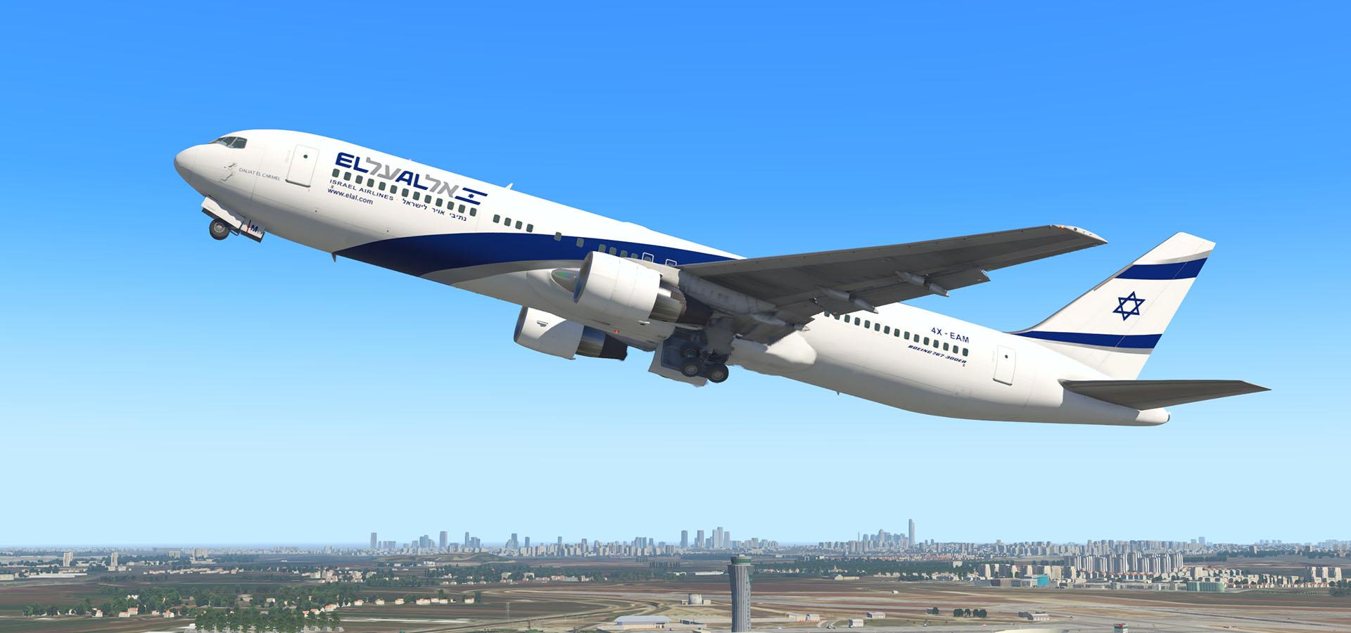 El Al Israel Airlines Circa 2017 Boeing 767-3Q8(ER) 4X-EAM