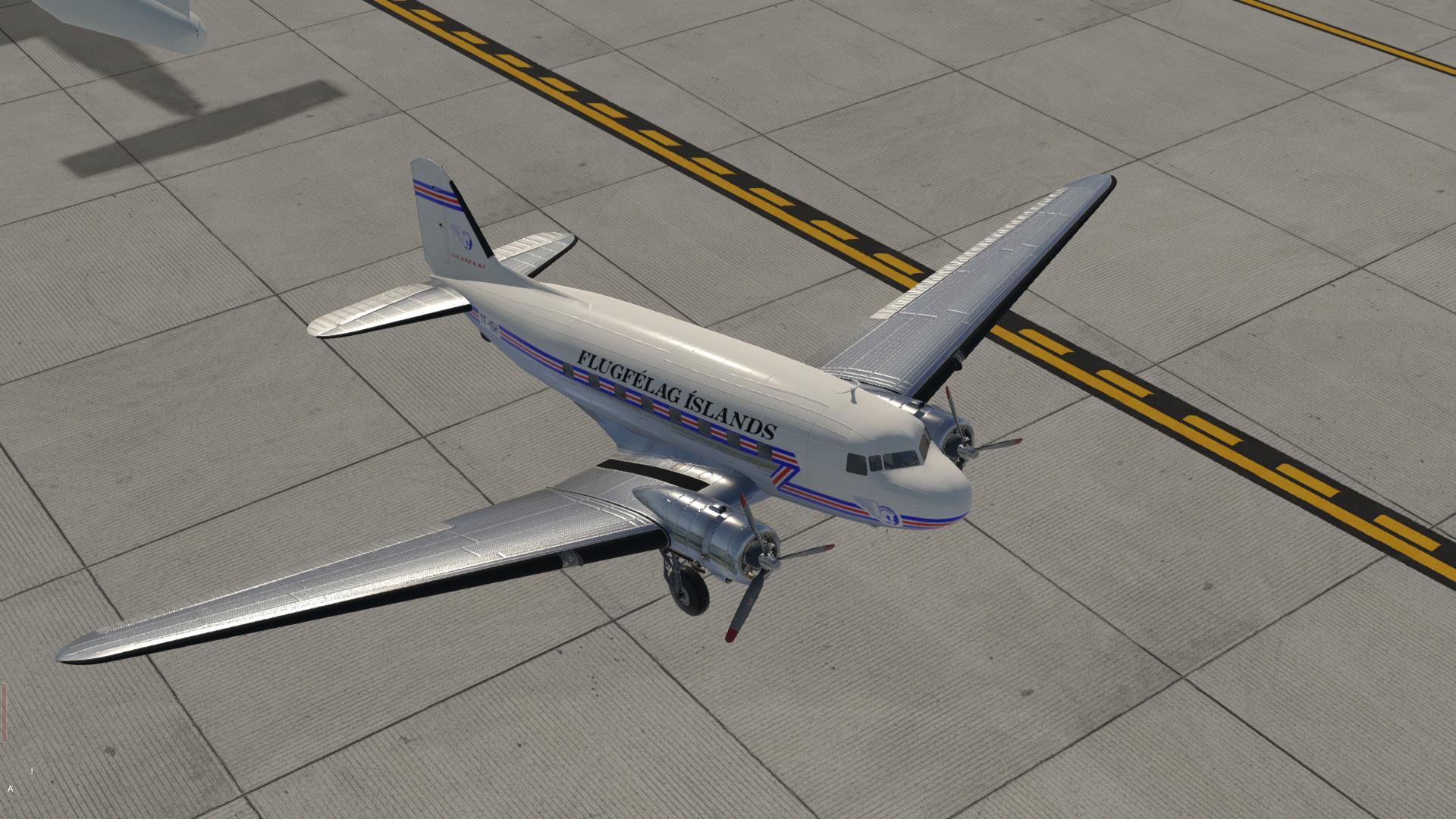 Gljafaxi for VSKYLABS DC-3/C-47 - VSKYLABS DC-3 - X-Plane