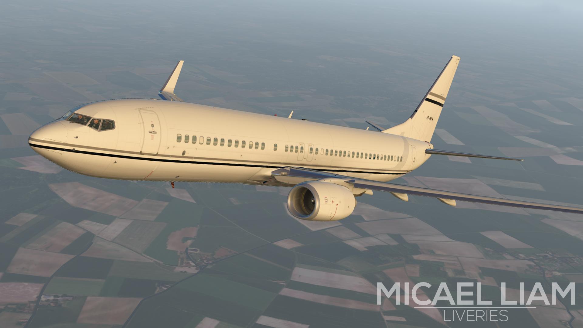Private 737 livery [VP-BFE] - Aircraft Skins - Liveries - X-Plane