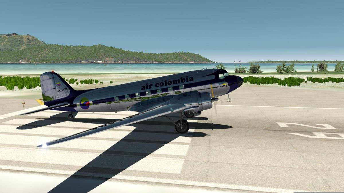 DC3/C47 Air colombia rar - Aircraft Skins - Liveries - X