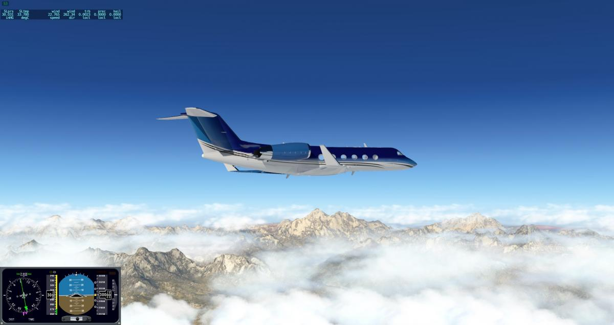 Blue_Mar livery for Gulfstream IV freeware - Aircraft Skins