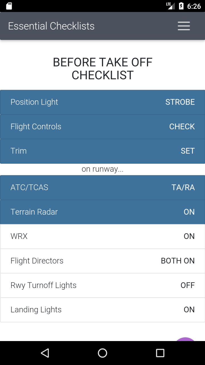 Android App] Boeing 737 NG Checklists and Calculator