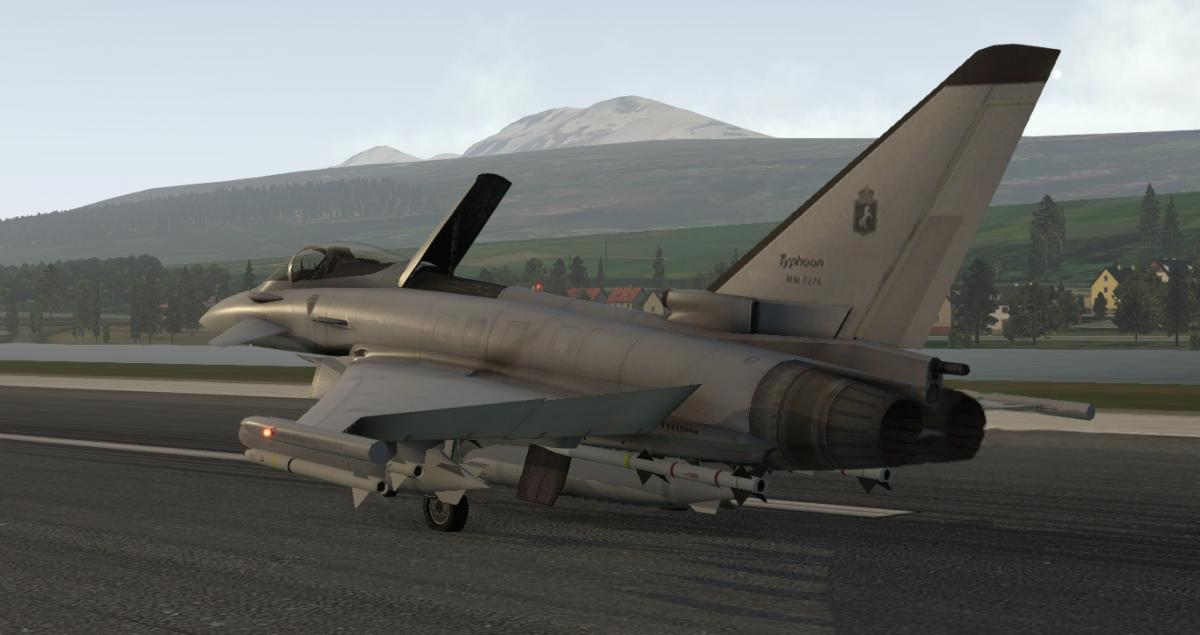Reflection for Typhoon E2000 freeware from Dmax for XP11 - Aircraft