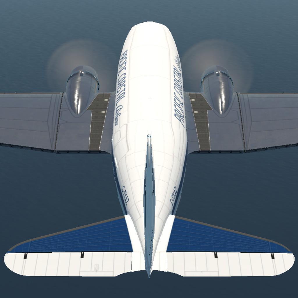 Pacific Coastal for VSkyLabs C-47 Skytrain - VSKYLABS DC-3