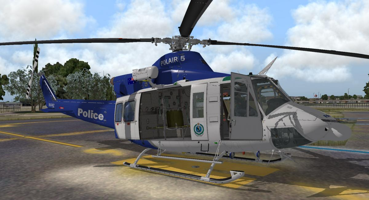 NSW Police for Xtrident Bell 412 - Aircraft Skins - Liveries - X