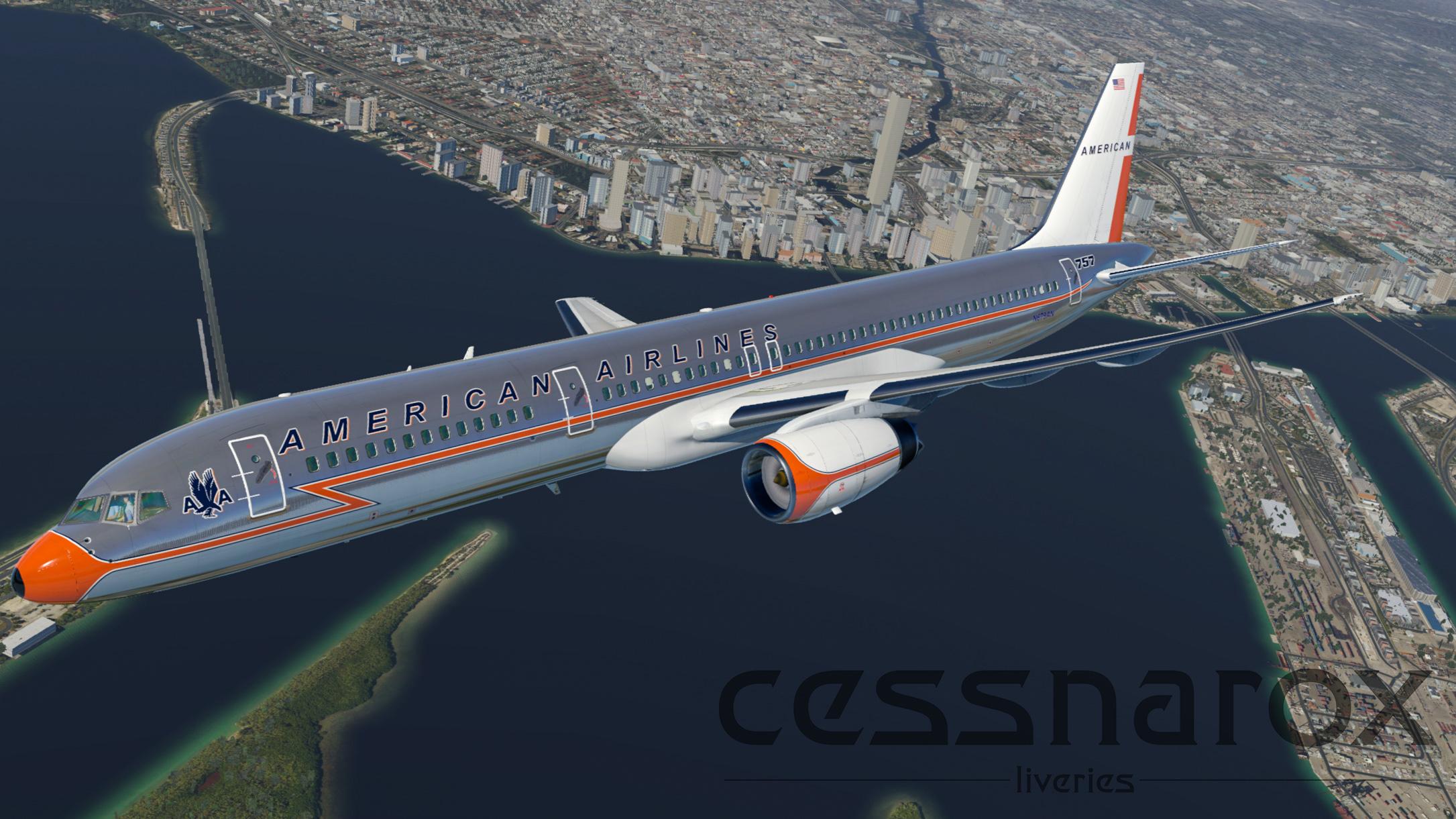 American Airlines (RetroJet) - FlightFactor 757-200v2 Livery