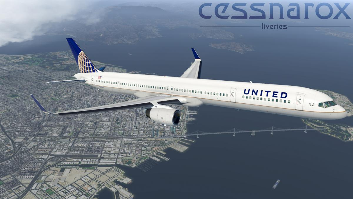 United (Current) - FlightFactor 757-300v2 Livery - Aircraft