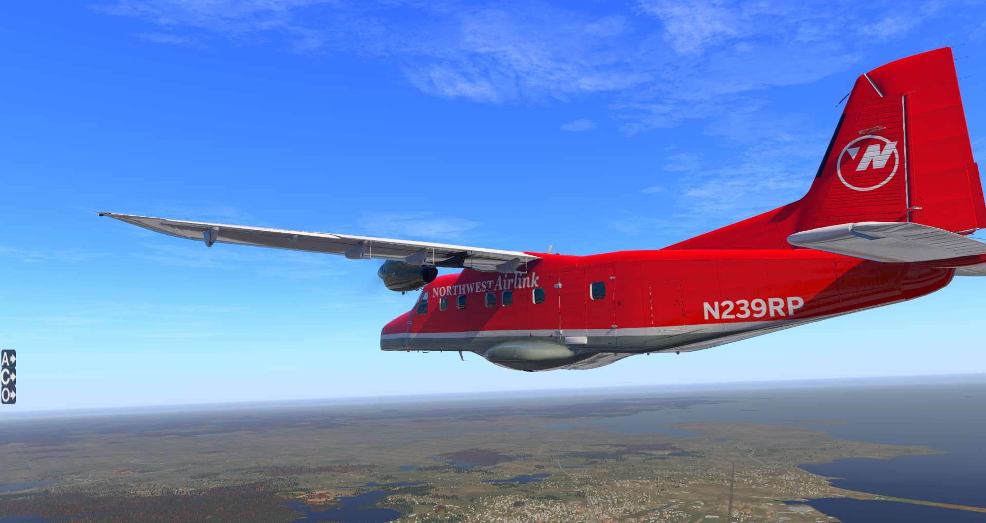 Carenado Dornier Do228 Northwest Airlink - Carenado Paints - X-Plane