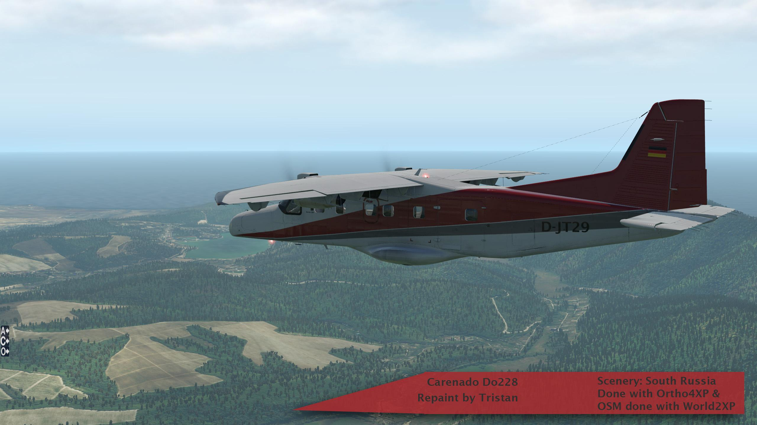 Carenado Do228 repainted as AirJumper - Carenado Paints - X-Plane