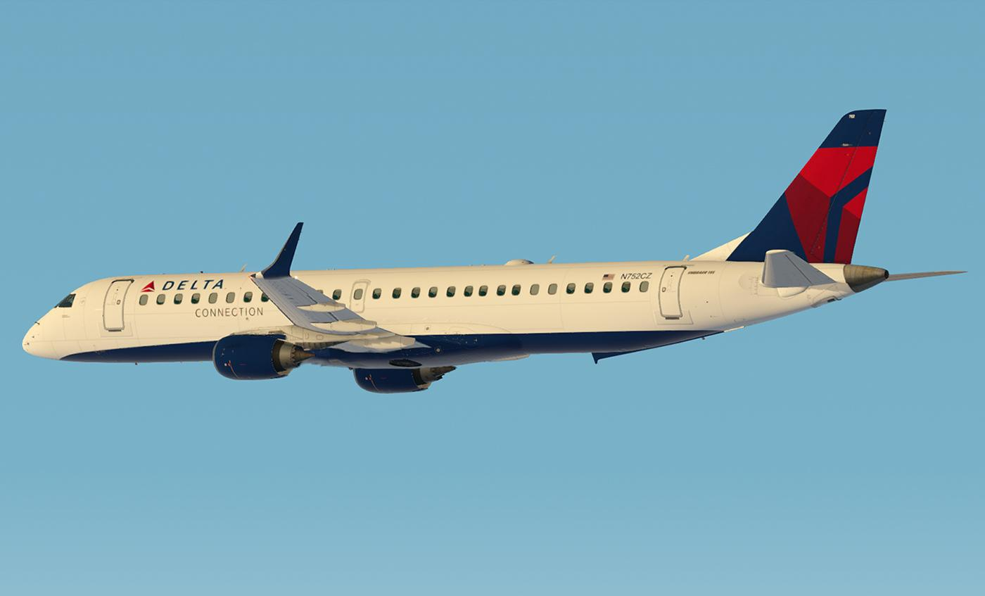 SSG E-195 Evolution - Delta Connection - SSG Liveries - X