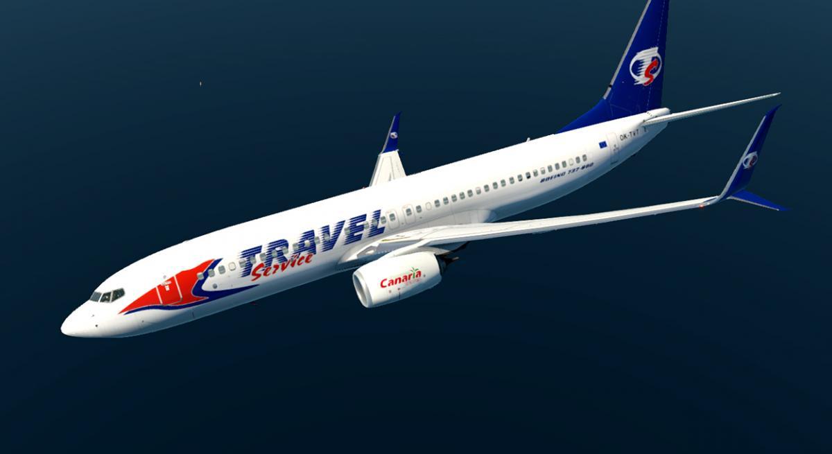 Boeing 737-800 Travel Service Split Scimitar Winglets Zibo + RG MOD