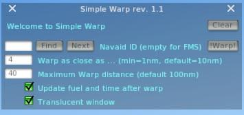 Simple Warp Modified - Utilities - X-Plane Org Forum