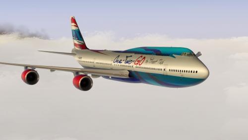 SSG 747-8i Orient Thai One Two Go - SSG Liveries - X-Plane