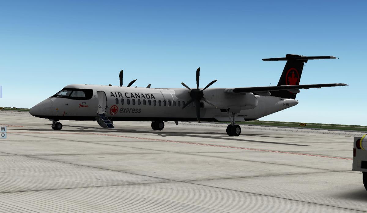 C-FSRZ Air Canada DHC-8 Q400 - Aircraft Skins - Liveries - X-Plane