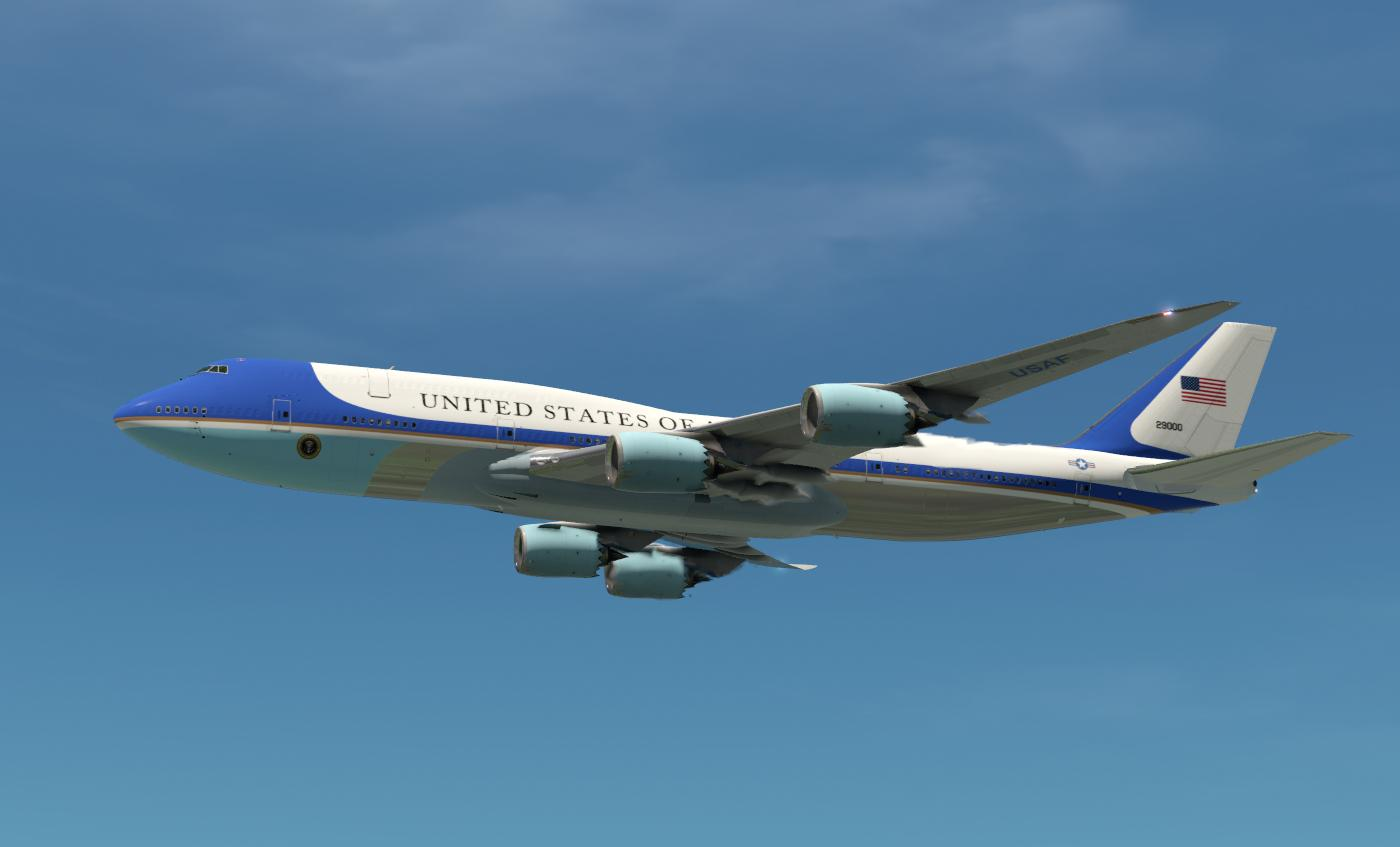 SSG 747 8i Air Force One SSG Liveries X Plane.Org Forum