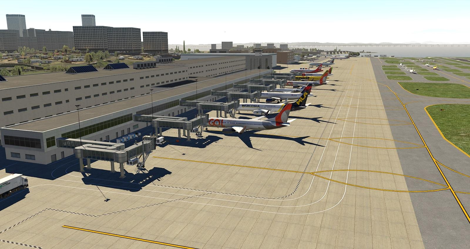 SBRJ - Santos Dumont (Default Library XP11 20 up) - Scenery