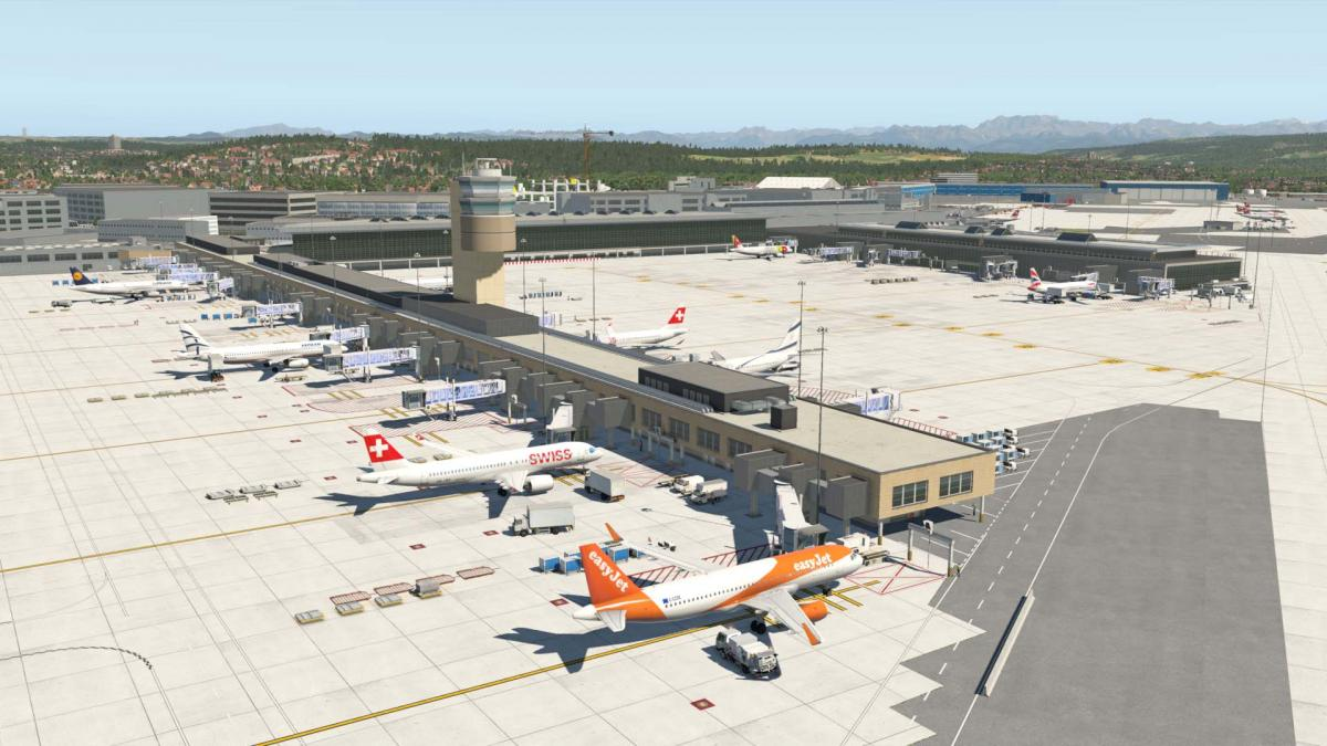 LSZH Zurich Airport Switzerland XP11 - Scenery Packages (v11