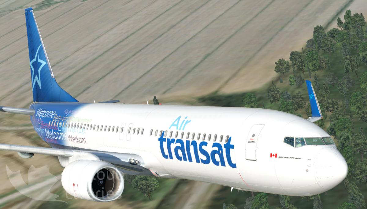 Air Transat B737-8Q8 Default / Zibo / EADT - Aircraft Skins