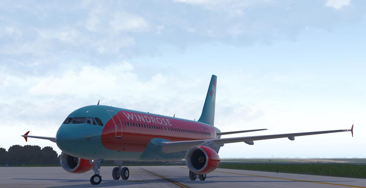 Airbus A320-212 Windrose Aviation UR-WRM - Aircraft Skins - Liveries