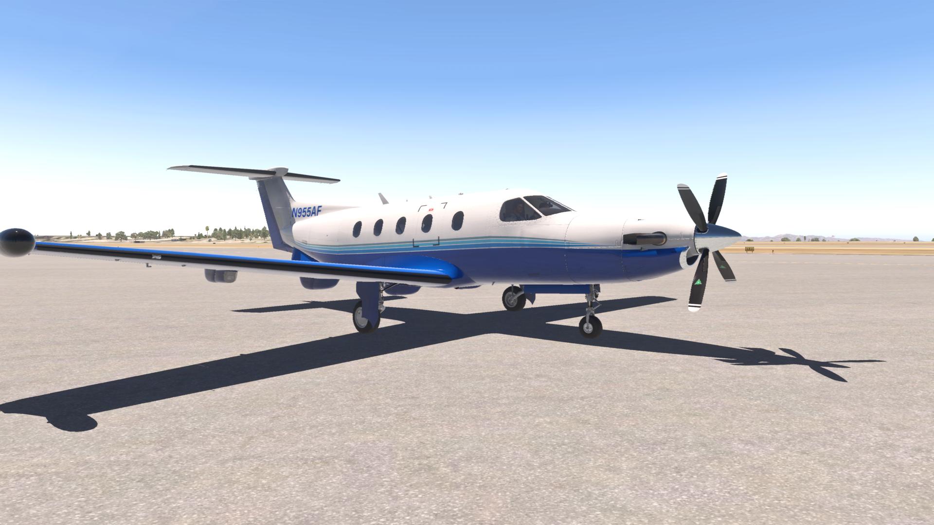 Carenado PC12 PlaneSense livery - Carenado Paints - X-Plane