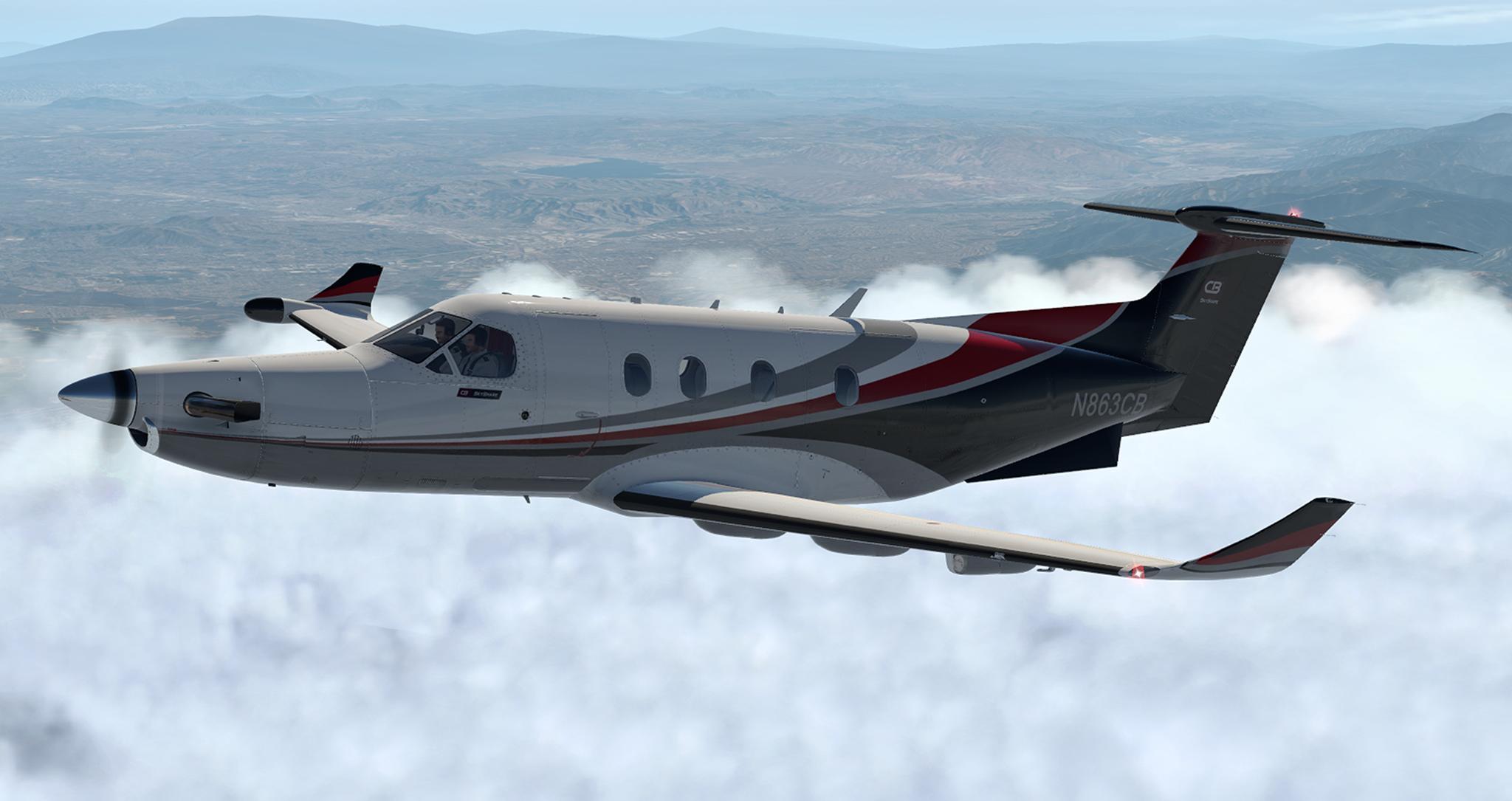 Carenado Pilatus PC-12 (V1 2) - N863CB of CB SkyShare