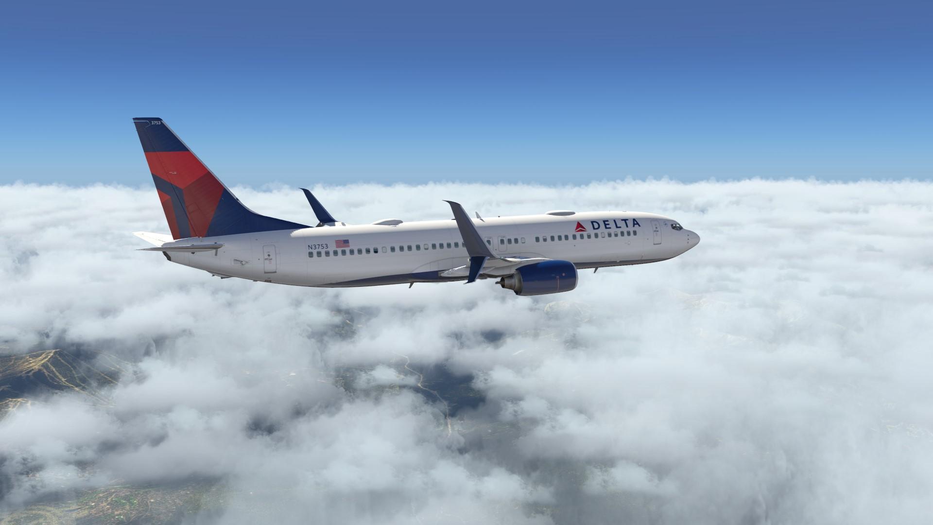 Default Delta 737-800 livery for Zibo mod v3 30, v3 31+ - Aircraft