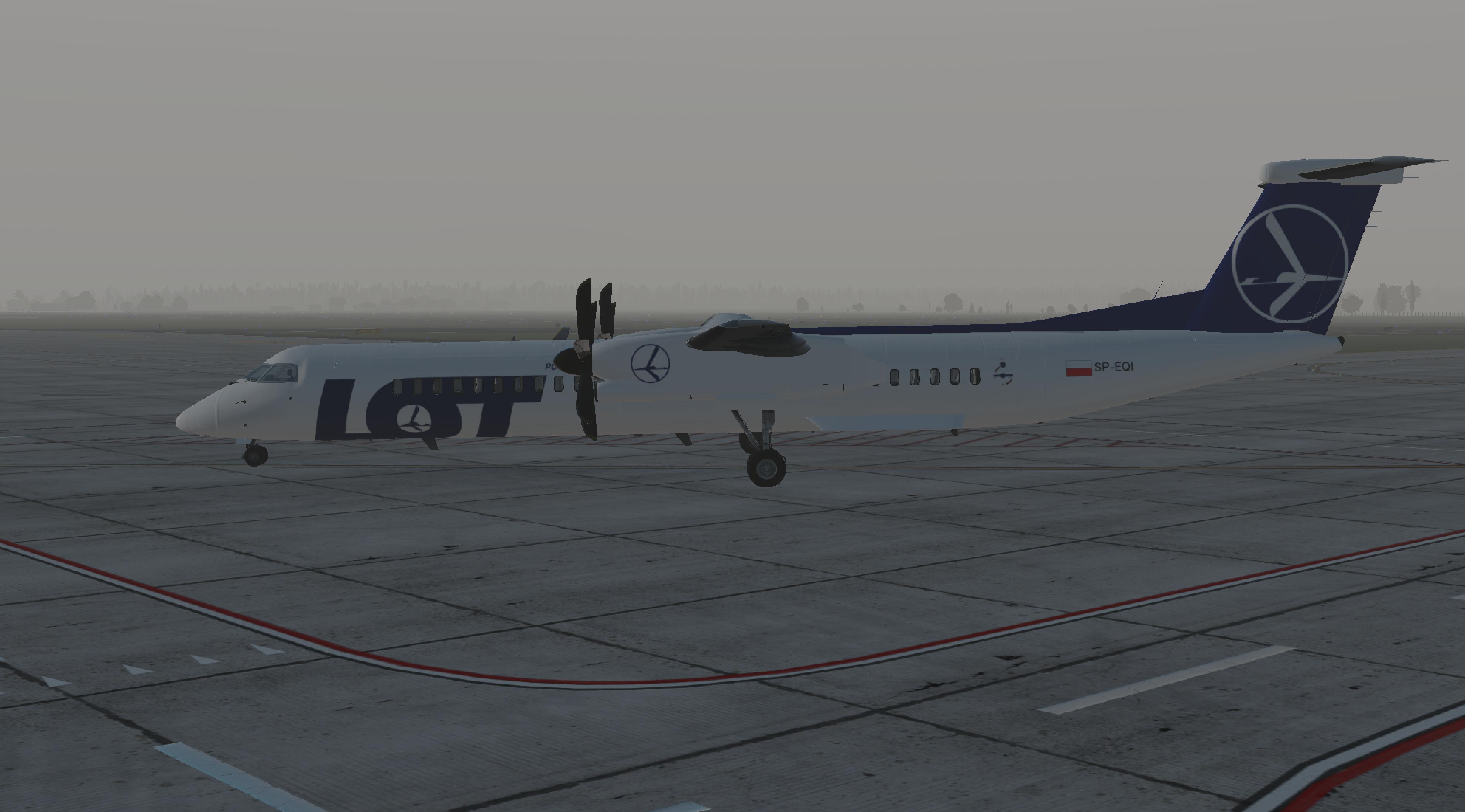 FJS Dash 8 PLL LOT livery - Aircraft Skins - Liveries - X-Plane Org