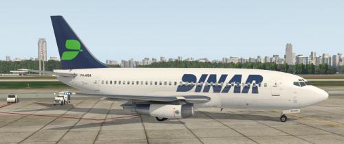 Dinar Livery for Flyjsim 732 v3 P4-ARA - 732 TwinJet Paints - X