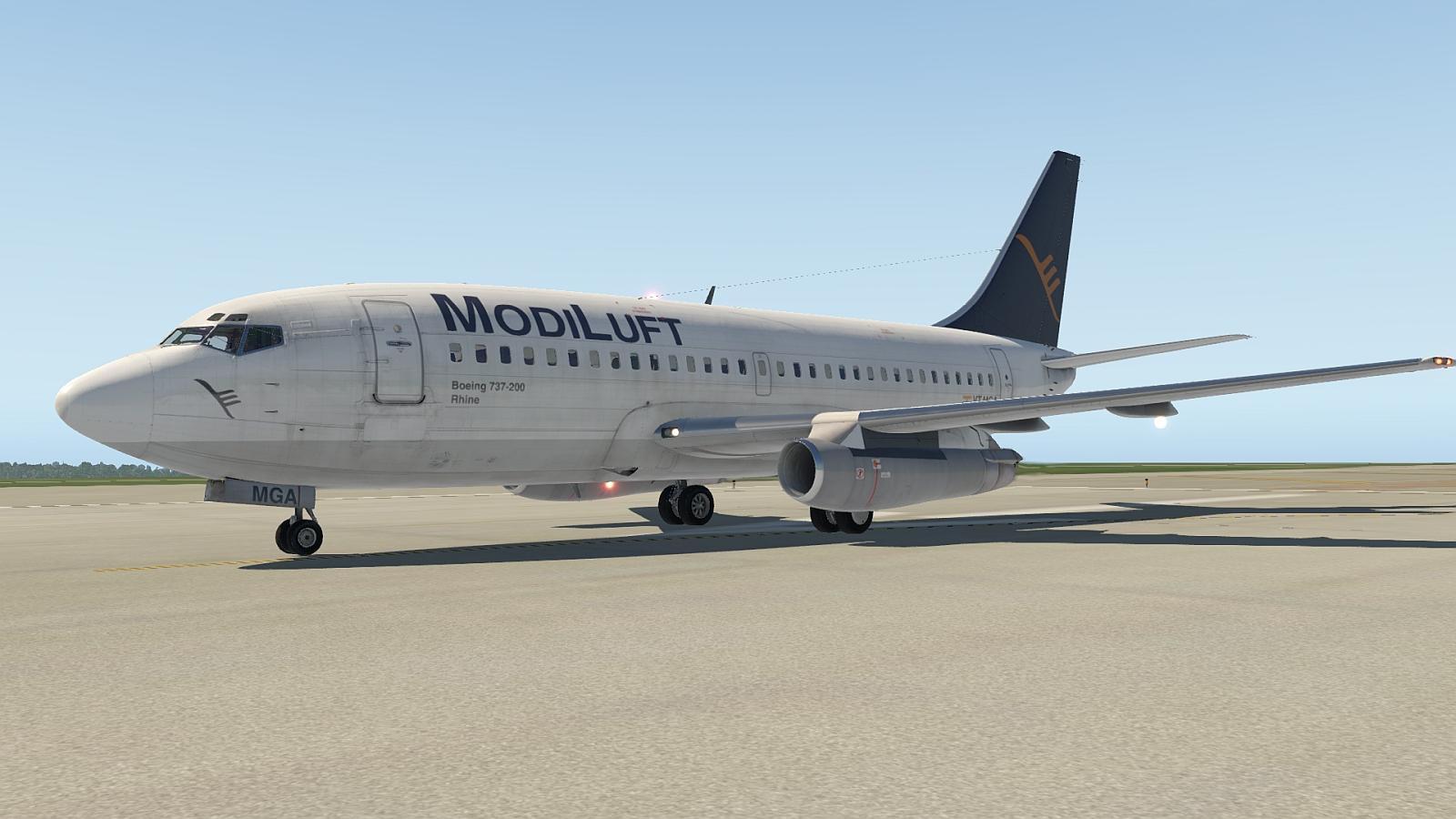 FlyJSim v3 Boeing 737-200 ModiLuft VT-MGA