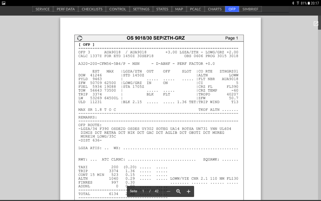 F-EFB - modified EFB for FF A320 - Simbrief plugin - Page 2
