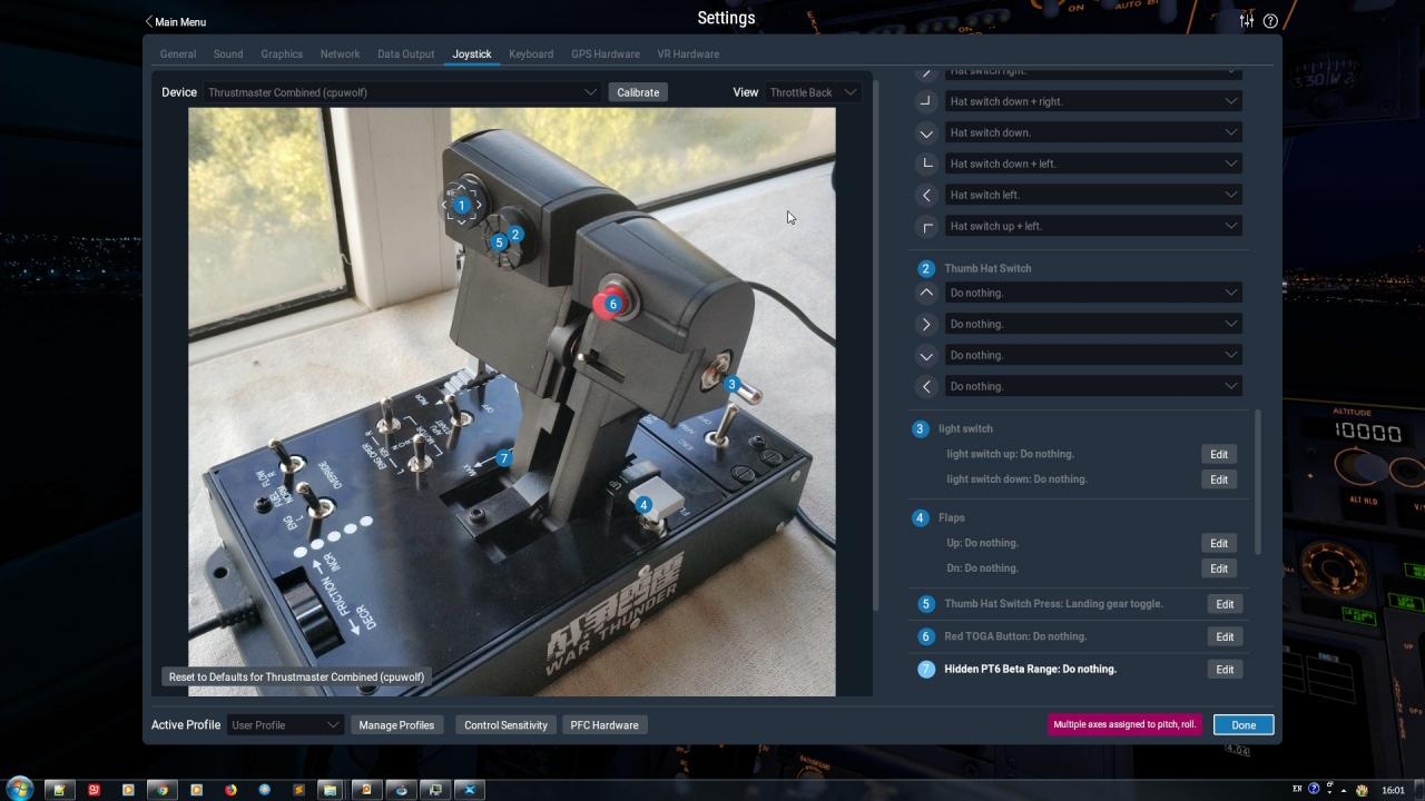 Warthog Throttle Deep Customization for TBM9 and B350