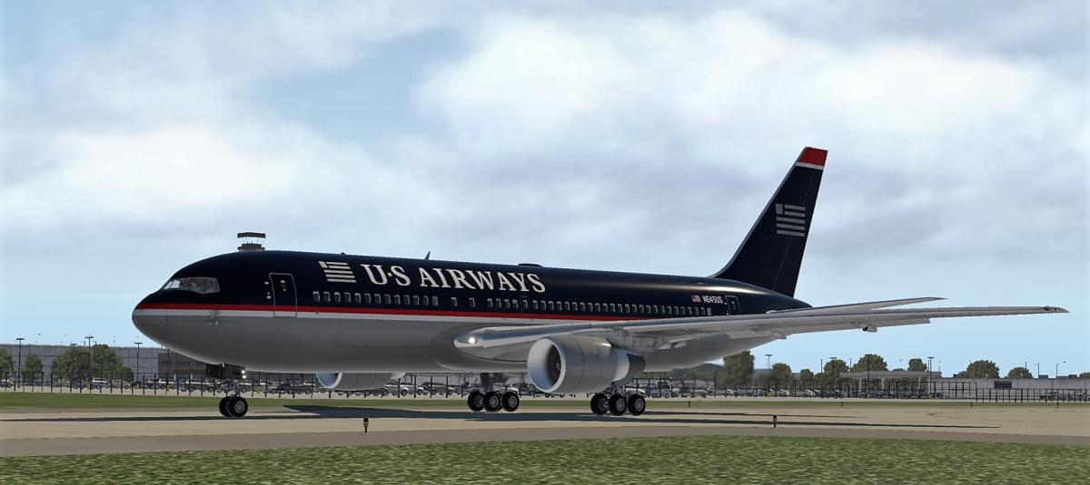 US Airways N645US for FlightFactor 767-200 - Aircraft Skins