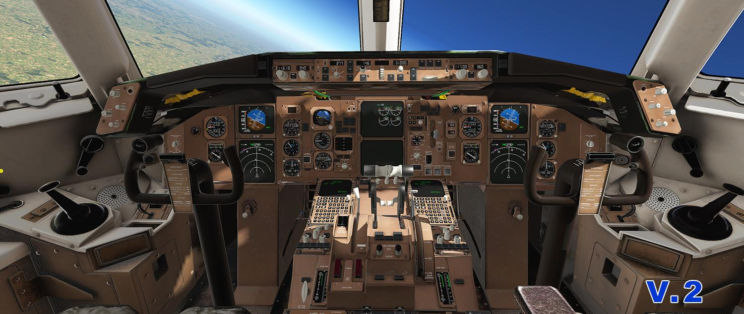 New Cockpit textures for 767 Professional Extended from Flight