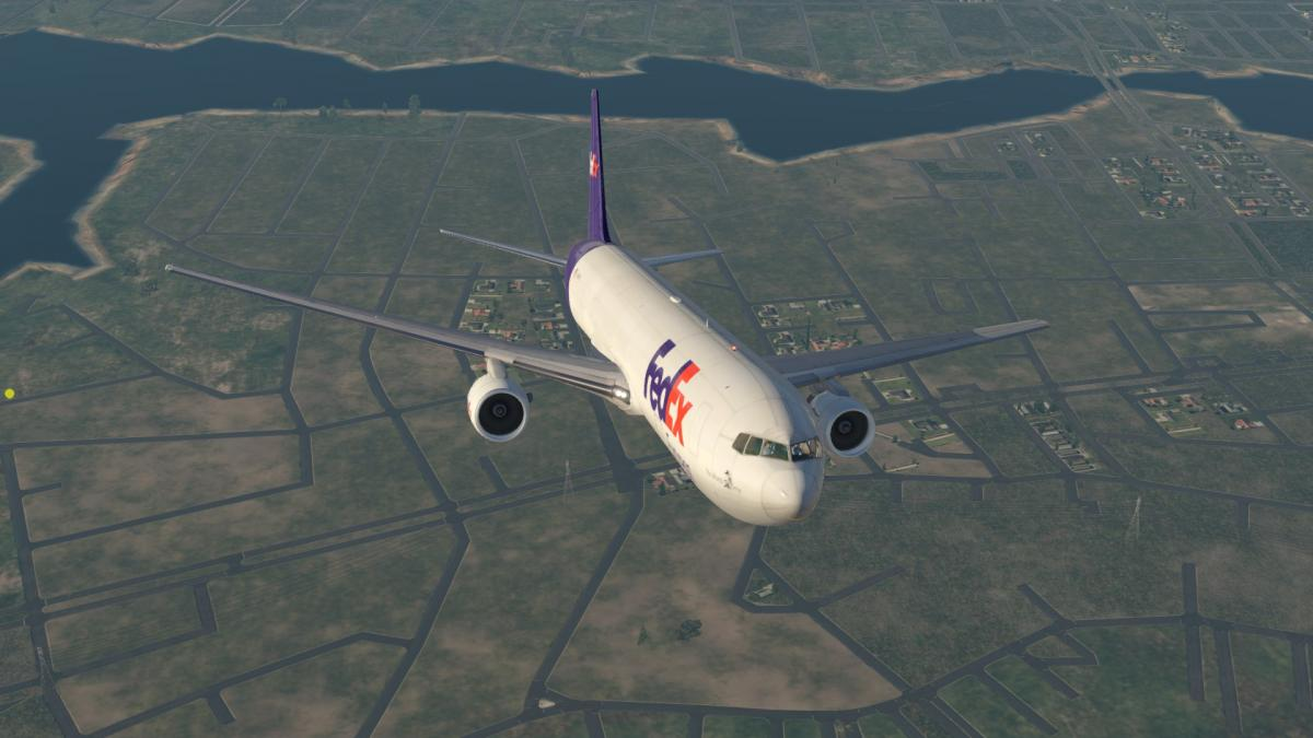FedEx Livery for Flight Factor 767 Extended (Freighter