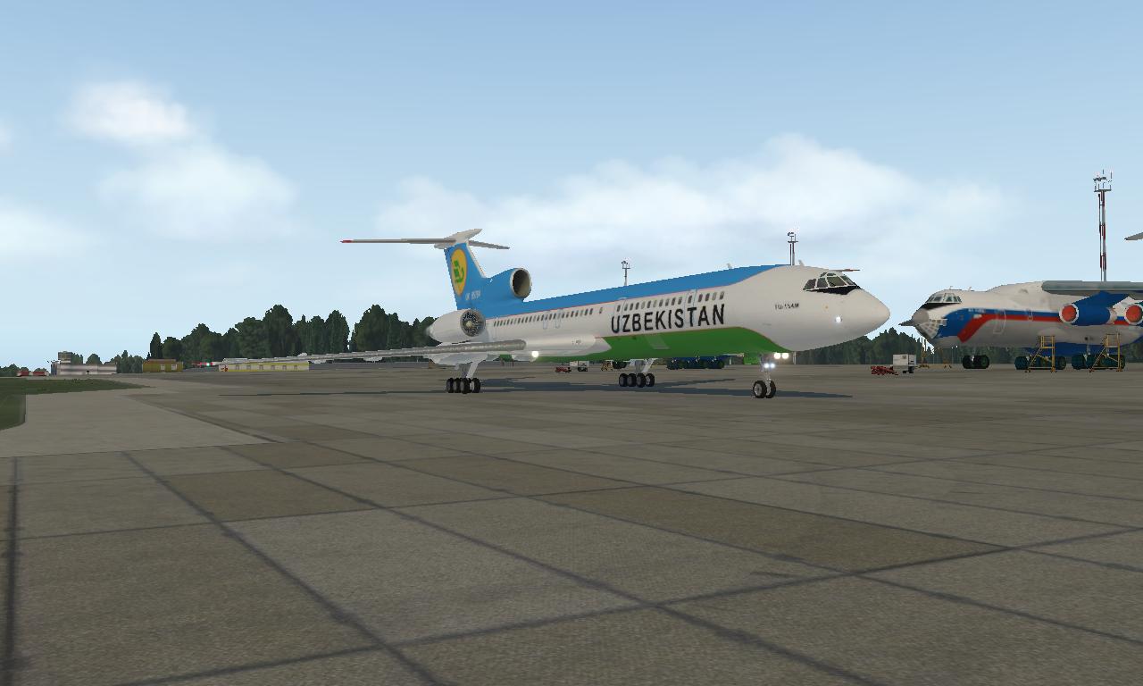 Tu-154 X Plane 11 26  With 3D cockpit - General Aviation - X