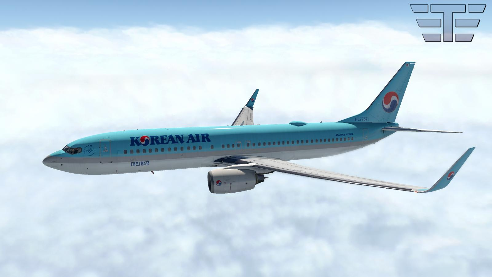 Zibo 737-800 - Korean Air - HL7757 - Aircraft Skins
