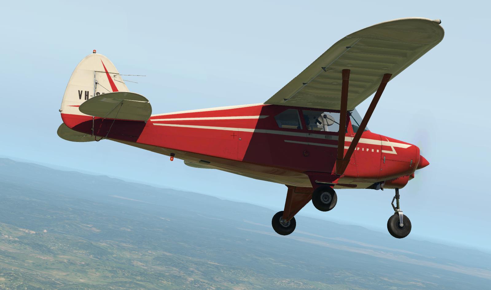 Alabeo PA22 Tri-Pacer VH-SDO  - Carenado Paints - X-Plane