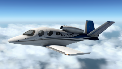 CIRRUS SF50 PILOT in FLIGHT Sticker Decal Aviation Airplane BUSINESS JET VLJ