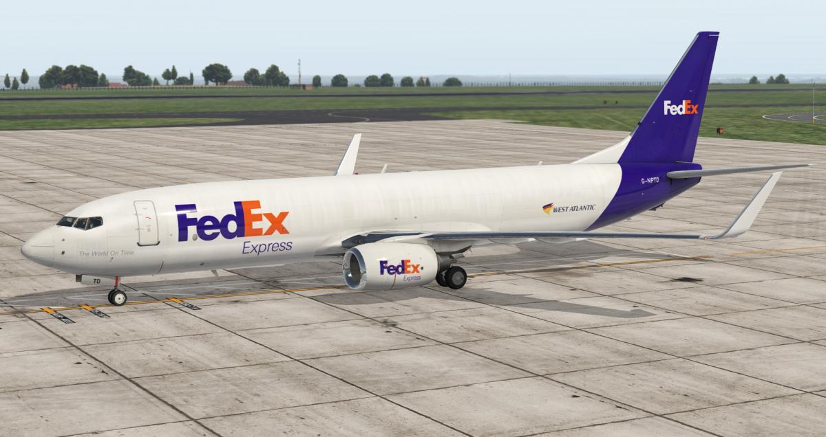 FedEx Express livery Boeing 737-800(BCF) G-NPTD (Zibo 3 32+)