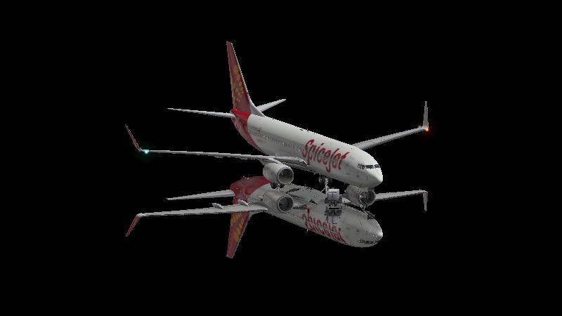 SpiceJet livery Zibo 737 v3 32 - Aircraft Skins - Liveries