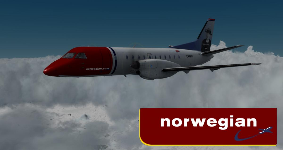 Carenado SAAB 340B Norwegian - Aircraft Skins - Liveries - X-Plane